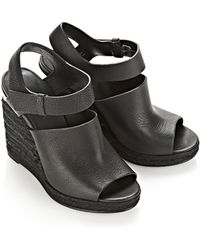 Alexander Wang Tori Espadrille Wedge With Rhodium - Lyst
