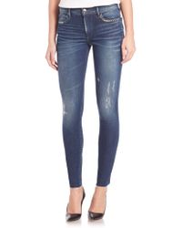 True Religion | Halle Studded Distressed Skinny Jeans | Lyst
