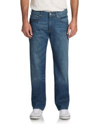 7 For All Mankind Austyn Faded Relaxed Straight-Leg Jeans - Lyst