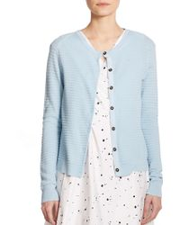 Marc By Marc Jacobs Compact Cotton Cardigan blue - Lyst