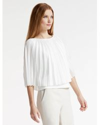 Halston | Pleated Poncho Top | Lyst