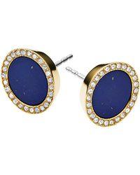 Michael Kors Lapis Circle Stud Earrings - Lyst