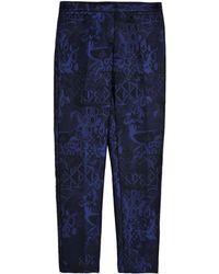 Burberry Prorsum Blue Dress Pants - Lyst