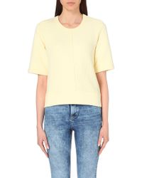 Sandro Short-Sleeved Jersey Sweatshirt - Lyst