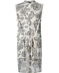 Ann Demeulemeester Geometric Print Wrap Top - Lyst