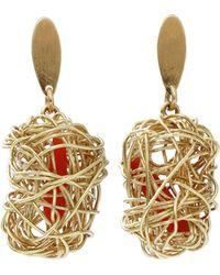 Boaz Kashi - Wire Wrap Nest Earrings - Lyst