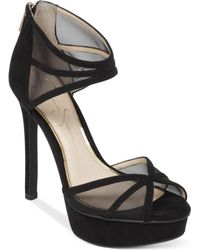 Jessica Simpson Ceyanna Mesh Platform Dress Sandals - Lyst