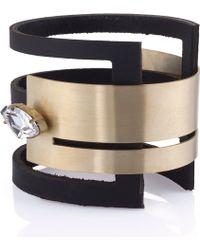 Noritamy - Gt Leather & Gold Bracelet - Lyst