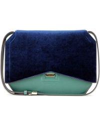 Givenchy - New Line Flap Velvet and Leather Shoulder Bag - Lyst