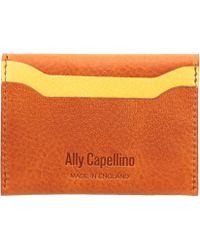 Ally Capellino - Orange Tom Leather Card Holder - Lyst