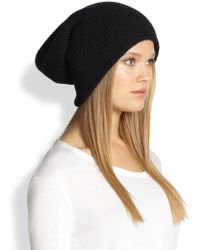 Helmut Lang Ribbed Knit Beanie - Lyst