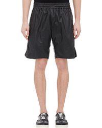Bottega Veneta - Crinkled Leather Shorts - Lyst