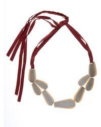 Zeus+Dione - Bronze Leaf Silk Necklace - Lyst