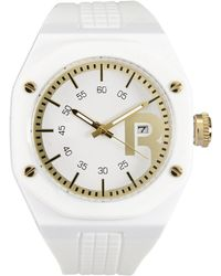 Reebok - Rc-Swa White & Gold-Tone Watch - Lyst