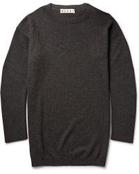 Marni Oversized Wool Sweater - Lyst