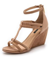 Rachel Zoe - Nancy Strappy Wedges - Natural - Lyst