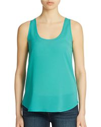 French Connection Solid Scoopneck Tank - Lyst