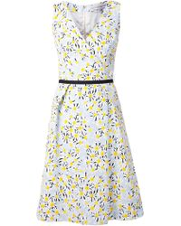 Carolina Herrera Daisy Print Dress - Lyst