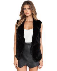 Joie Andoni Rabbit Fur Vest - Lyst