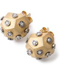 Amedeo - Diamond Ball Earrings - Lyst