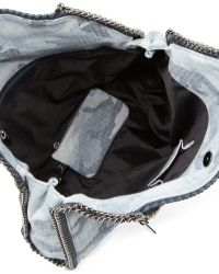 Stella McCartney Falabella Camoprint Big Tote Bag Pale Blue - Lyst