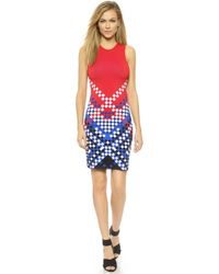 Alexander Wang Degrade Double Knit Dress - Lacquer - Lyst