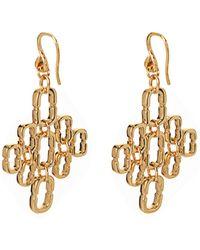Diane von Furstenberg - Chainlink Cluster Gold-Plated Earrings - Lyst