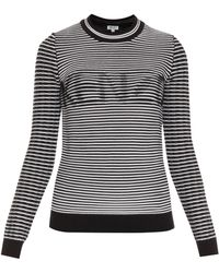Kenzo Ribbed Cotton Sweater - Lyst