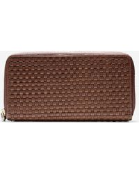 Cole Haan Bethany Weave Large Continental Wallet brown - Lyst