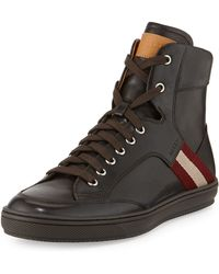 Bally Oldani Leather High-top Sneaker - Lyst