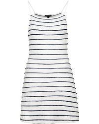 Topshop Strappy Scallop Stripe Sundress - Lyst