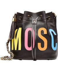 Moschino Leather Bucket Bag - Lyst