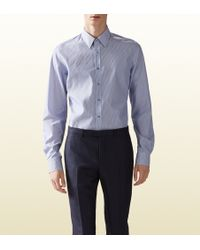 Gucci Striped Classic Shirt - Lyst