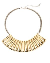 Catherine Stein - Two-Toned Bib Necklace - Lyst