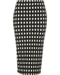 Topshop Tall Gingham Tube Skirt - Lyst
