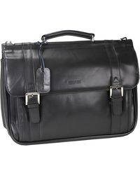 Kenneth Cole Reaction - Rod, White & Blue Leather Double Gusset Portfolio0125-526495 - Lyst