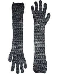 Alaïa - Crochet Elbow Length Gloves - Lyst
