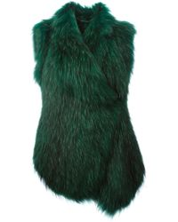 Barbara Bui Green Sleeveless Coat - Lyst