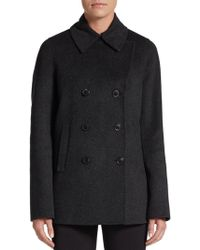 Vince Double Face Wool-Blend Peacoat - Lyst