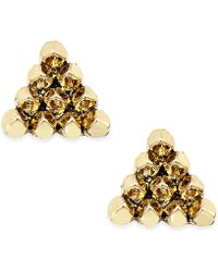 House of Harlow 1960 - Gold-tone Triangle Stud Earrings - Lyst