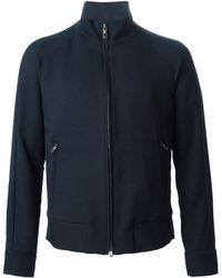 Giorgio Armani Zipped Sport Jacket blue - Lyst