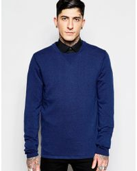 Lindbergh - Jumper With Square Neck - Blue - Lyst