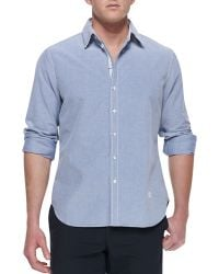 Rag & Bone Buttondown Oxford Shirt Navy - Lyst