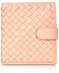 Bottega Veneta Intrecciato Leather Flap Wallet - Lyst