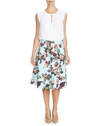 Cece by Cynthia Steffe - Bouquet Estate Printed Skirt - Lyst
