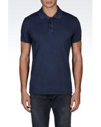 Armani Jeans Short-Sleeved Polo gray - Lyst
