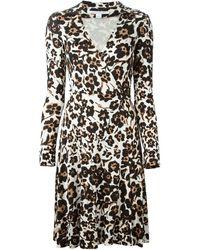 Diane von Furstenberg Multicolor Wrap Dress - Lyst