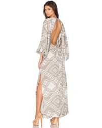Agua de Coco - Embroidered Open Back Dress - Lyst