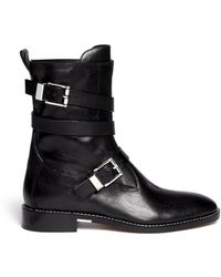 Alexander Wang 'Louise' Leather Boots - Lyst