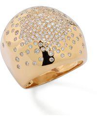 Ippolita - Stardust Gold Radiating-diamond Dome Ring - Lyst